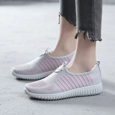 Comfortable Women's Pink Running Shoes Casual Sports Shoes Hui Li Sneakers you best choice for School, Going out -TOP Design by FSJ Flat Shoes, Shoes Heels, Flats, Pink Running Shoes, Long Boots, Canvas Sneakers, Sport Casual, Loafers For Women, Custom Shoes