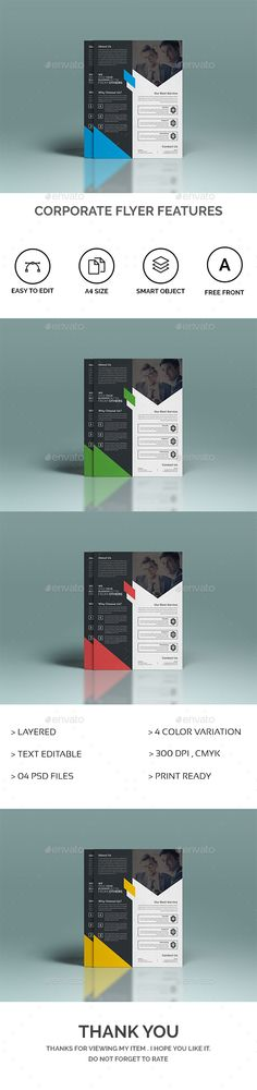 Corporate Flyer Features - Template PSD