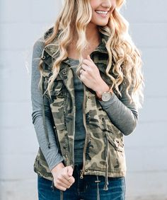 Another great find on #zulily! Green Camo Vest #zulilyfinds