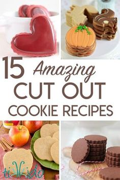 15 amazing cut out cookie recipes. So much more than just your basic vanilla sugar cookies! 15 amazing cut out cookie recipes. So much more than just your basic vanilla sugar cookies! Roll Out Sugar Cookies, Chocolate Sugar Cookies, Iced Cookies, Cut Out Cookies, Sugar Cookies Recipe, No Bake Cookies, Baking Cookies, Chip Cookies, Lollipop Cookies