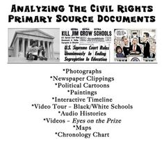 Each content area will help a child achieve their post- secondary dreams. Analyzing Primary Source Documents - The Civil Rights Movement