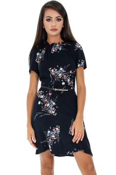 Short Sleeve Dresses, Dresses With Sleeves, Aw17, Floral, Casual, Fashion, Moda, Sleeve Dresses, Fashion Styles