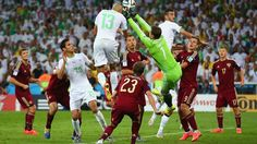 Islam Slimani's equalizer sends Algeria to the knockout stage - Russia 1-1 Algeria #worldcup