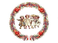 Christmas Images, Kids Christmas, Vintage Christmas, Christmas Crafts, Xmas, Decoupage, Diy And Crafts, Paper Crafts, Quilling Christmas