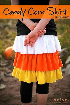 Candy Corn Skirt Tutorial by Choose to Thrive