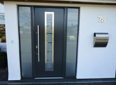 These aluminium doors look great and come in a variety of different colours…