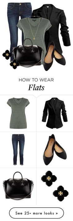 """Professional Wardrobe for All Ages Outfit: 38"" by vanessa-bohlmann on Polyvore featuring Frame Denim, Warehouse, Givenchy, Wet Seal, Tory Burch and Michael Kors"