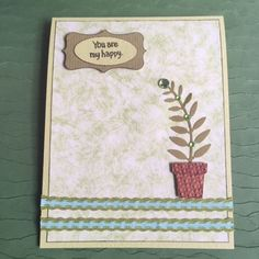 Handmade Card - You Are My Happy | MYCREATIVEROSEGARDEN - Cards on ArtFire