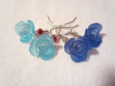 Cole's Blue Rose Case earrings featuring by TheHoneyBeeCrafts Evil Twin, Rose Earrings, Twin Peaks, Frost, Royal Blue, Great Gifts, My Etsy Shop, Embroidery, Inspired