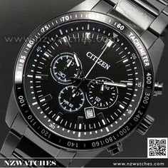 Citizen Chronograph Stainless Steel All Black Sport Watch AN8075-50E c0f9ec2b7