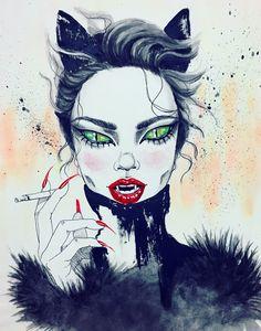 Artwork by Harumi Hironaka.  #art #artwork #painting