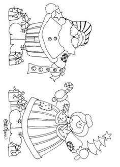 Mr. and Mrs Santa Claus - Coloring Pages