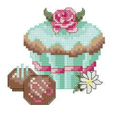 cup cake cross stitch