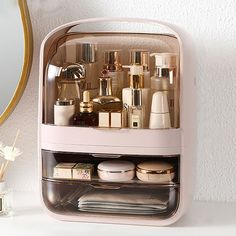 Makeup Storage Box, Makeup Organization, Storage Boxes, Magnetic Makeup Palette, Small Space Storage, Aesthetic Room Decor, Dressing Table, Dressing Room, Hair Tools