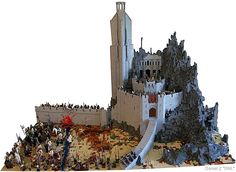 LEGO Lord of the Rings Helms Deep http://thebrickblogger.com/2012/09/the-best-lego-lord-of-the-rings-dioramas/