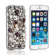"""Stayoung Jewellery Luxury 3D Bling Full Diamond Crystal Rhinestone """"Love"""" Transparent Clear Hard Cover Case for iPhone 6 and iPhone 6s - 4.7"""""""