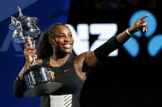 Serena Williams, the 6-4, 6-4 win to hoist the Australian Open trophy for a seventh time establishes a brand new record. At 35, she is the only player – man or woman – to win 23 Grand Slam singles titles in the Open Era.