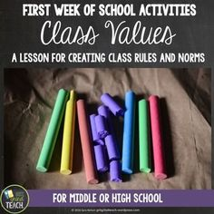 Get students involved in crafting classroom culture through the creation of class values. This step by step lesson helps students think about the concept of values and why they are important to communities. Then students create a set of values for the classroom. Includes all directions and materials to get students collaborating from Day 1 of school!