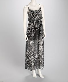 Take a look at this Black Paisley Maxi Dress by Ambiance Apparel on #zulily today!