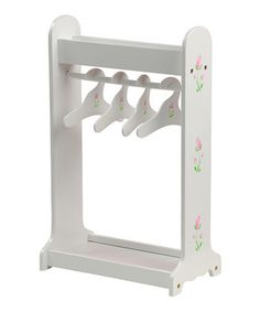 Another great find on #zulily! White Clothes Rack for 18'' Doll #zulilyfinds