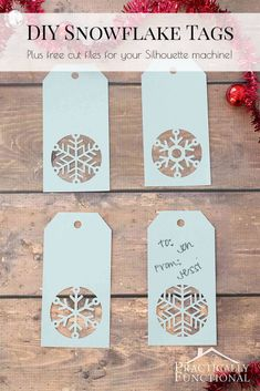 15 Free Christmas Cut Files for Silhouette and Cricut - Poofy Cheeks Xmas gifts – uncommon Christmas ideas Out of all of the issues that we have presently found undern Christmas Tag Templates, Cricut Christmas Cards, Free Printable Christmas Gift Tags, Christmas Svg, Cricut Projects Christmas, Christmas Tables, Nordic Christmas, Christmas Snowflakes, Modern Christmas