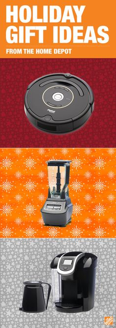 Get your wrapping paper ready! This season's hottest gifts are at The Home Depot. From Roomba robot vacuums to Keurig coffee makers to gourmet blenders and more. Click-through to find the perfect gift for everyone on your list.