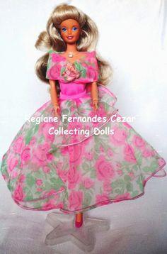 #boneca #Barbie #Glamour #Estrela 1989