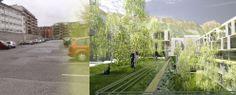Grün statt Grau. Menschen statt Autos. #visualisation LAAC Architekten #architecture Vehicles, Car, Autos, Architects, People, Projects, Automobile, Cars, Vehicle