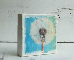 Counting WISHES Original Encaustic Mixed Media Painting. $30.00, via Etsy.