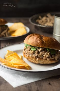 Slow Cooker Island Pulled Pork - This is your new favorite pulled pork. 'Nuff said. | Foodfaithfitness.com | #recipe