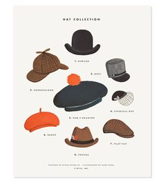 love this hat print from anna bond.
