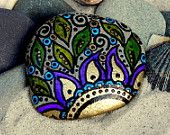 """Gypsy Sunrise"" / Painted Rock / Sandi Pike Foundas /"