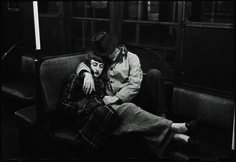"""Stanley Kubrick, """"Life and Love on the New York City Subway (Couple Sleeping on a Subway)"""" collections of the Museum of the City of New York. """"Stanley took thousands of images for Look Magazine between 1945 and Phil Grosz, from. Robert Mapplethorpe, New York Subway, Nyc Subway, Metro Subway, New York Street, New York City, Vintage Photography, Street Photography, Art Photography"""