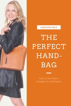 The perfect shopping bag.  Go from handbag to backpack for easy traveling, shopping and events.  Made of calfskin leather in Florence, Italy. Black Trim, Solid Black, Italian Leather Handbags, Popular Handbags, Stylish Handbags, Renaissance Men, How To Make Handbags, Convertible, Backpacks