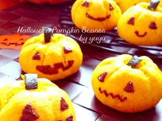 ハロウィンにも☆簡単かぼちゃスコーン。の画像 Pumpkin Scones, Halloween Pumpkins, Fall Recipes, Pumpkin Carving, Sweets, Cooking, Easy, Desserts, Fall Food