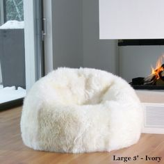 Natural Sheepskin Beanbag Chairs (Unfilled)