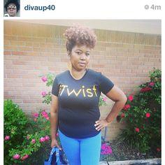 Reposted Photo by @naturallysupreme via Instagram [Naturally Supreme *www.NATSUPREME.com*] iTwist tee