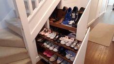 Under Stairs Hidden Storage Drawers : 15 Steps (with Pictures) - Instructables Stairs Storage Drawers, Staircase Storage, Set Of Drawers, Stair Storage, Hidden Storage, Diy Storage, Storage Ideas, Storage Under Stairs, Hallway Storage