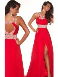 high neck a-line/princess beading sleeveless floor-length chiffon dress - Google Search