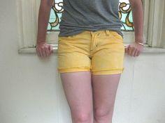 DIY Neon Denim Shorts Cutoffs  omggeeee use any denim shorts, bleach, and dye!