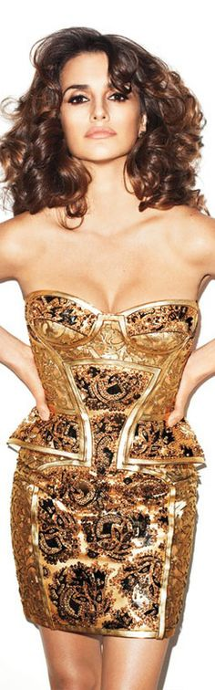 Terry Richardson mini dress#gold