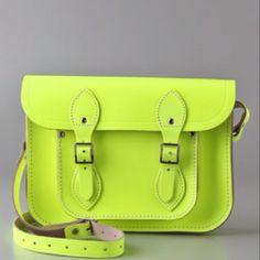 Cambridge satchel in Fluoro