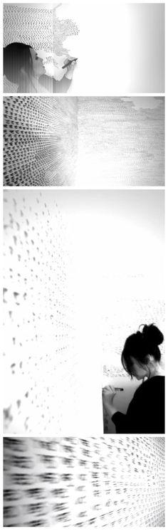zsuzsi csiszer- installation, yesno project, wallproject, wall, installation, writing, drawing