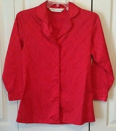 Victoria's Secret pajama top night shirt long sleeve size XS