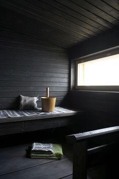 finnish sauna, all you need to add is some birch leaves.