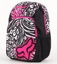 Pink, black, and white, Fox backpack. | Accessories | Pinterest ...