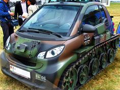 When Smart Car meets a tank, the only Smart Car I would buy lol