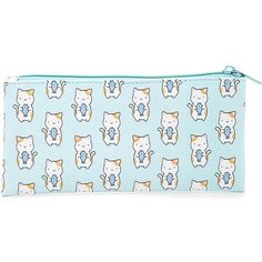 Forever21 Kitten Pencil Case (8.64 AUD) ❤ liked on Polyvore featuring home, home decor, office accessories, forever 21, fish pencil case, kitty pencil case, cat pencil pouch and cat pencil case