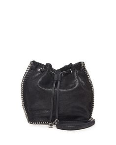 Falabella Pouch Crossbody Bag, Black by Stella McCartney at Neiman Marcus.