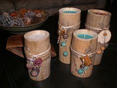 Velas hechas con cañas de bambu
